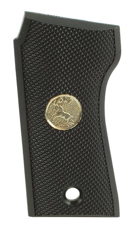 Grip, Left, Black Checkered Polymer w/ Silver Colt Medallion, New Factory Orig