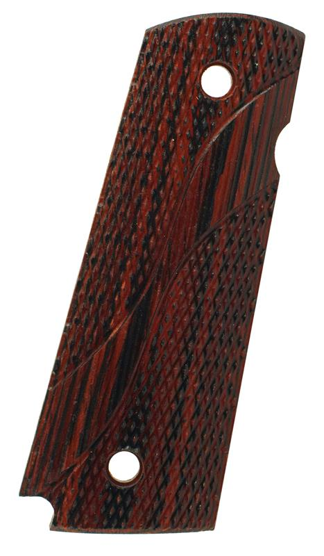 Grip, Right, Swooping S Checkered Rosewood, New Factory Original