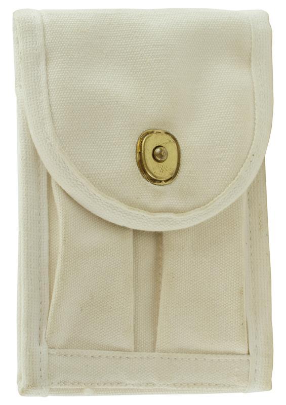 Magazine Belt Pouch, 2 Pocket, White Canvas, Used Aftermarket
