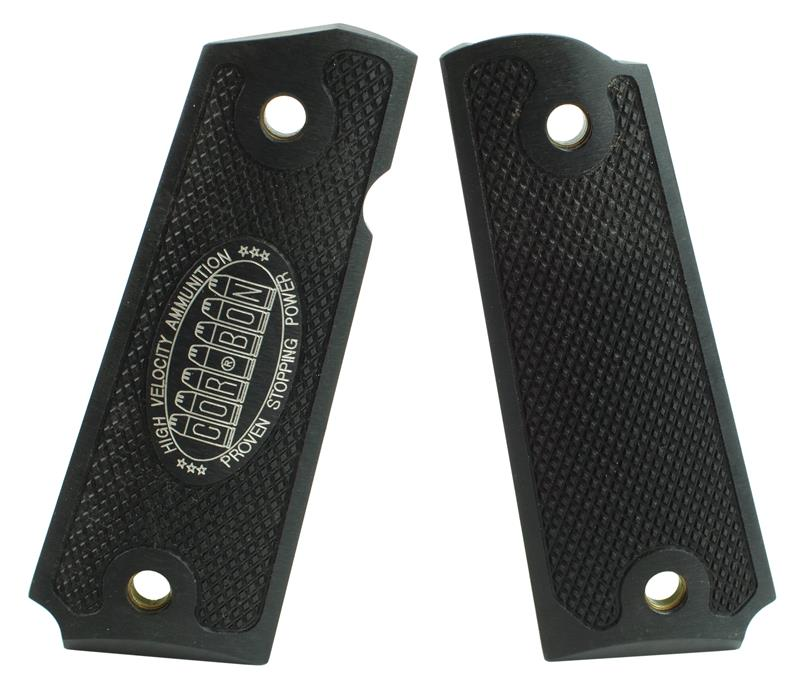 Grips, Black Checkered Aluminum, Used (Aftermarket)