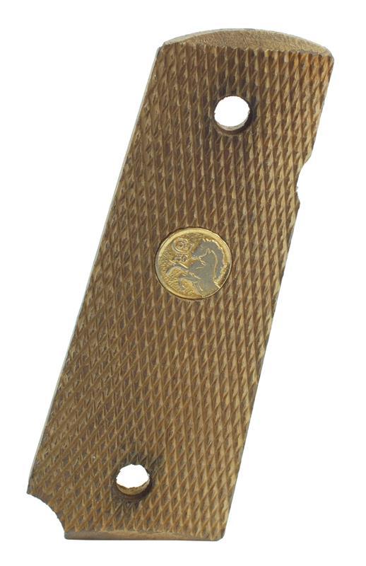 Grip, Right, Checkered Walnut, Used Factory Original (w/ Medallion)