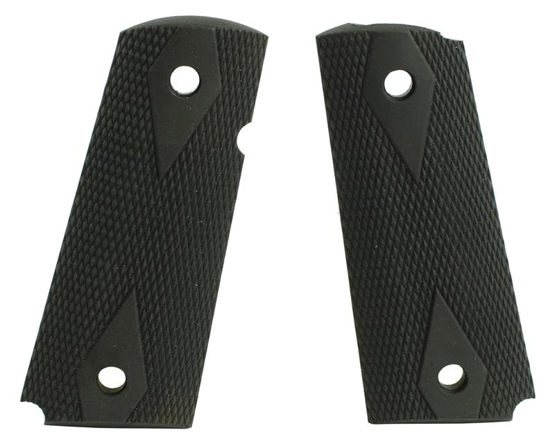 Grips, Diamond Checkered Rubber, Used Factory Original
