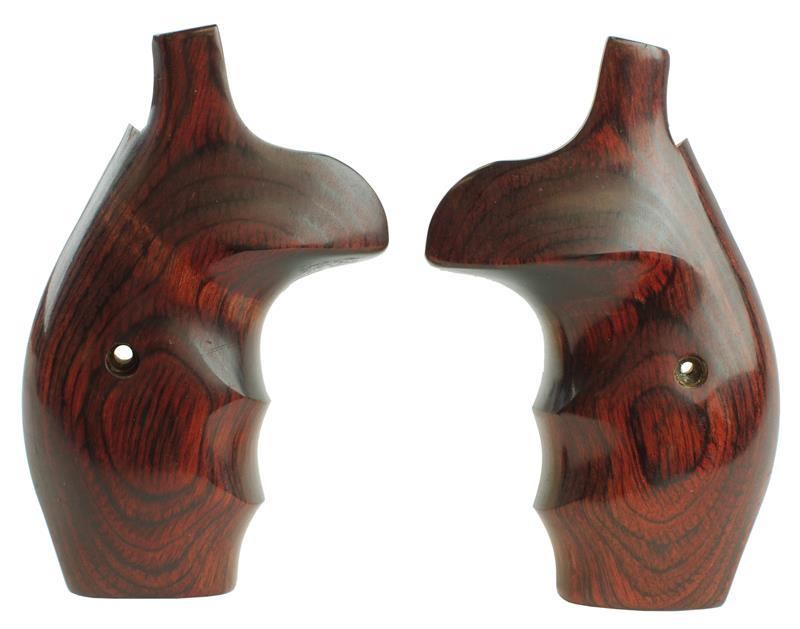Grips, Round Butt, Batelur, Rosewood, New (w/ Finger Grooves & Thumbrest)