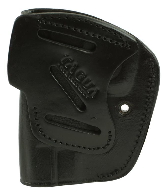 Holster, RH, Black Leather, Steel Retaining Clip, New Tagua Mfg.