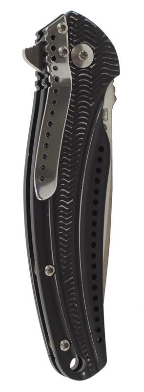 Knife, The Ripple, Black Anodized Aluminum, 7.5