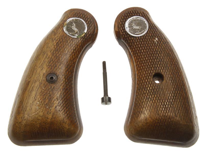 Grips, Round Butt, Walnut, Used Factory Original