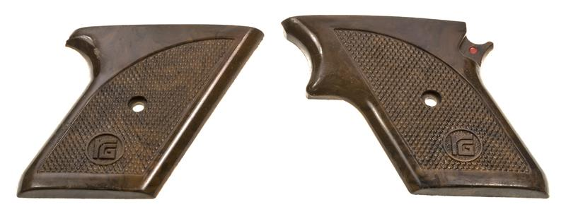 Grips, Pair, Brown Checkered Plastic, Used, Original