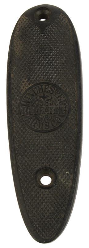Buttplate, Shotgun, Round Logo, Flat, 3-1/2