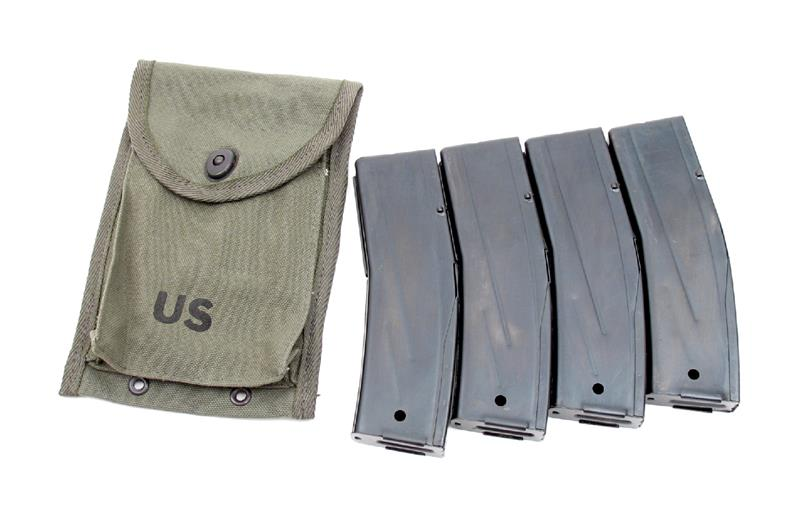 Magazines (4), Reproduction, in a 4 Pocket Magazine Pouch, .30 Cal.