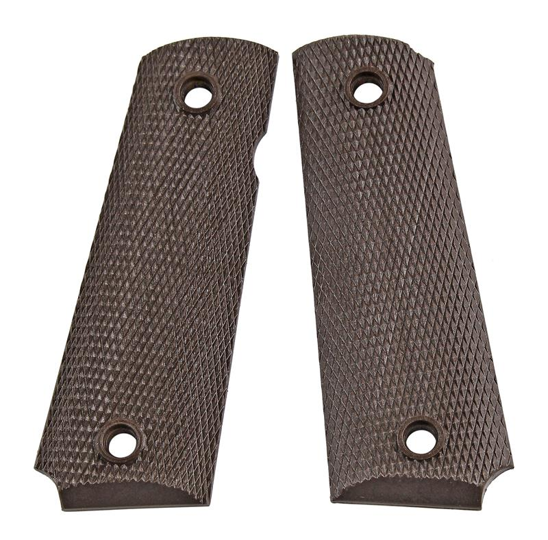 Grips, Brown Plastic, New Reproduction