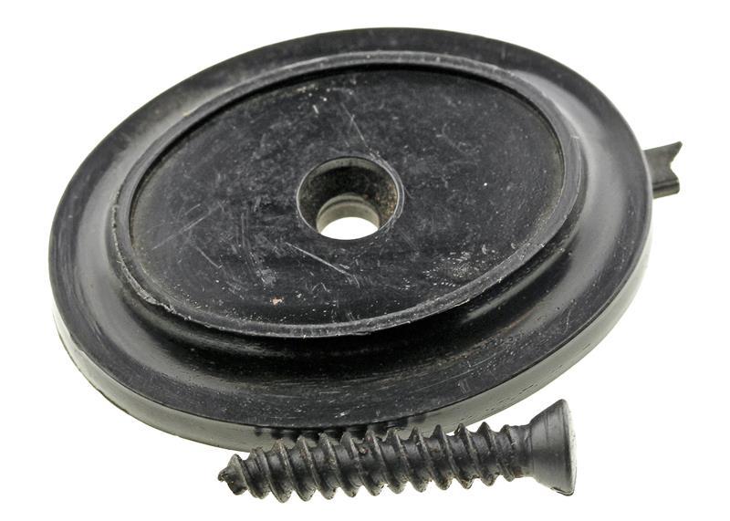 Grip Cap, Flat, Plain (w/ Screw; 1.350