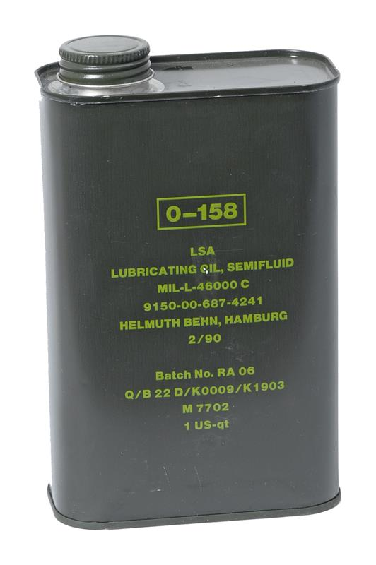 LSA Weapons Oil (Original Military Issue Weapons Oil In Quart Cans; Incl Dings)