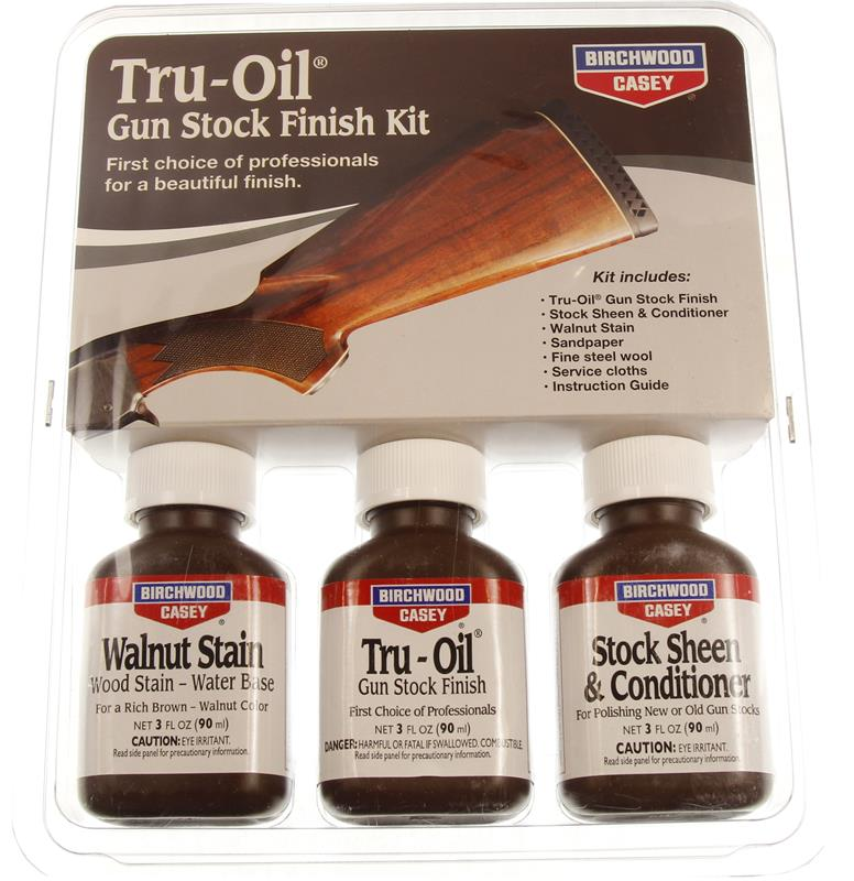 Tru-Oil Gun Stock Finish Kit- Incl 3 Oz Bottles Of Filler, Tru-Oil & Conditioner