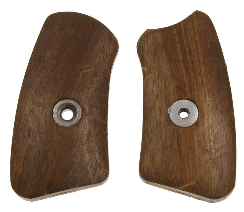 Grip Panel Inserts, Plain Wood, New Factory Original (For Fixed Sight)
