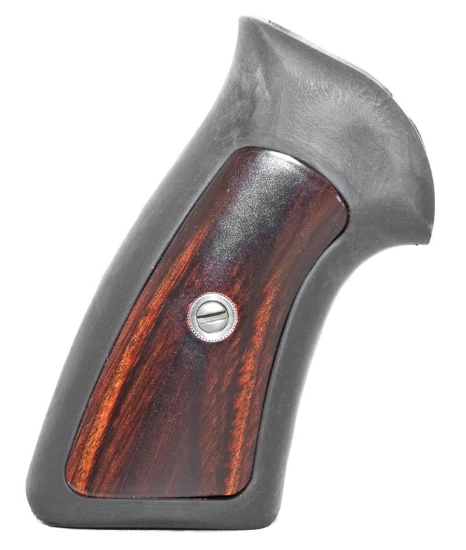 Grip, One Piece, Rubber (w/ Wood Inserts; For Adjustable Sight Models)
