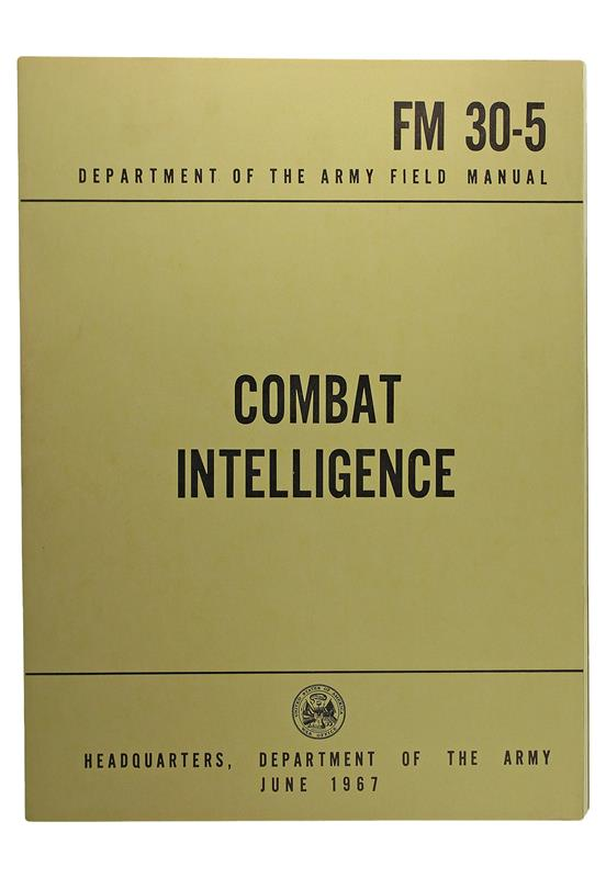 Combat Intelligence Book, FM 30-5