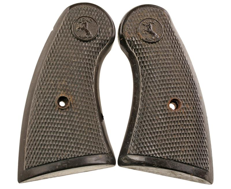 Grips w/ Emblem, Brown Plastic, Used