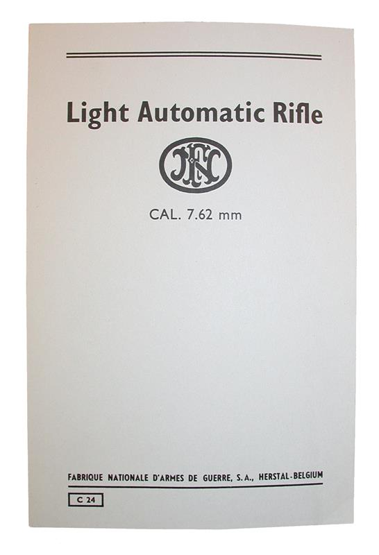 FN FAL Light Automatic Rifle Manual-Operation, Adjustment, Assembly, Disassembly
