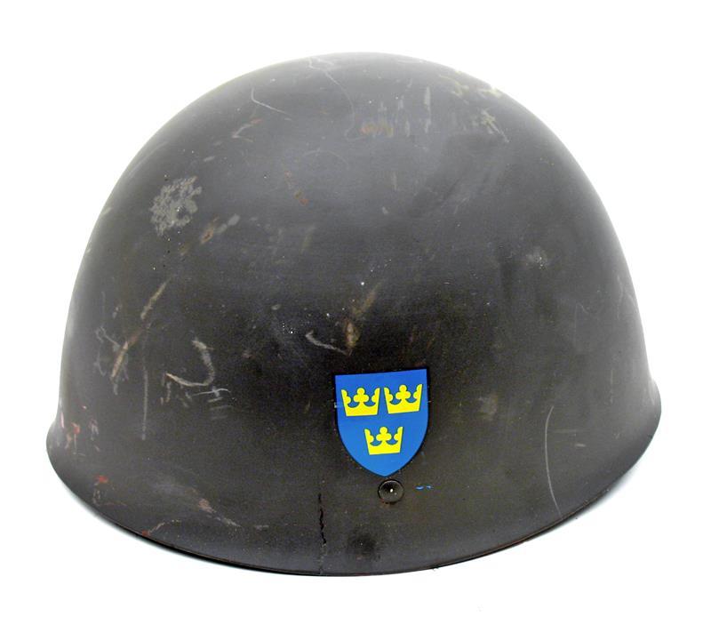 Swedish M37-65 Helmet, Gray Steel Very Good Condition