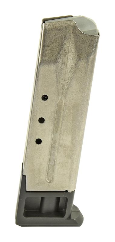 Magazine, 9mm & .30 Luger, 10 Round, Stainless, New (Sq Cut for Mag Catch)