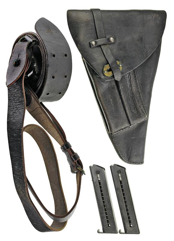 Belt Holster w/ Shoulder Strap w/ 2 Magazines, 9mm, 7 Rnd - Very Good Condition.