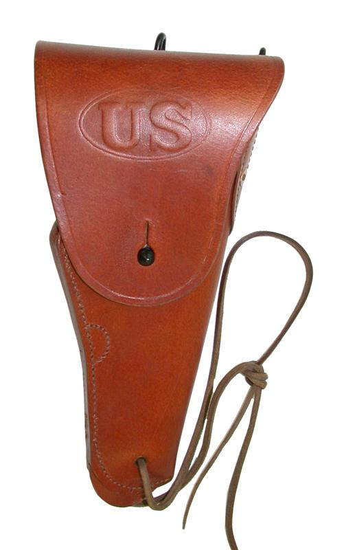 Holster, Brown -Good Quality w/ Leg Strap, Belt Hooks & Loop, Fits Colt 1911