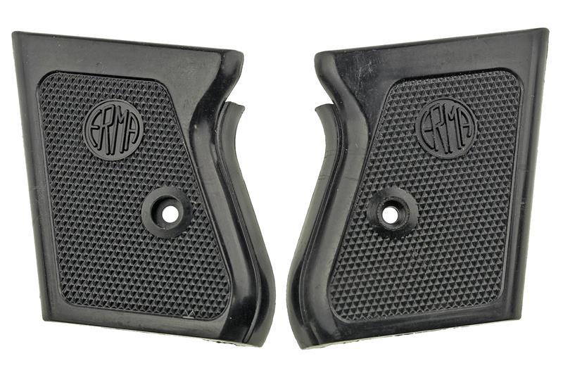 Grips, Erma - Original Black Plastic Grips w/ Erma Logo