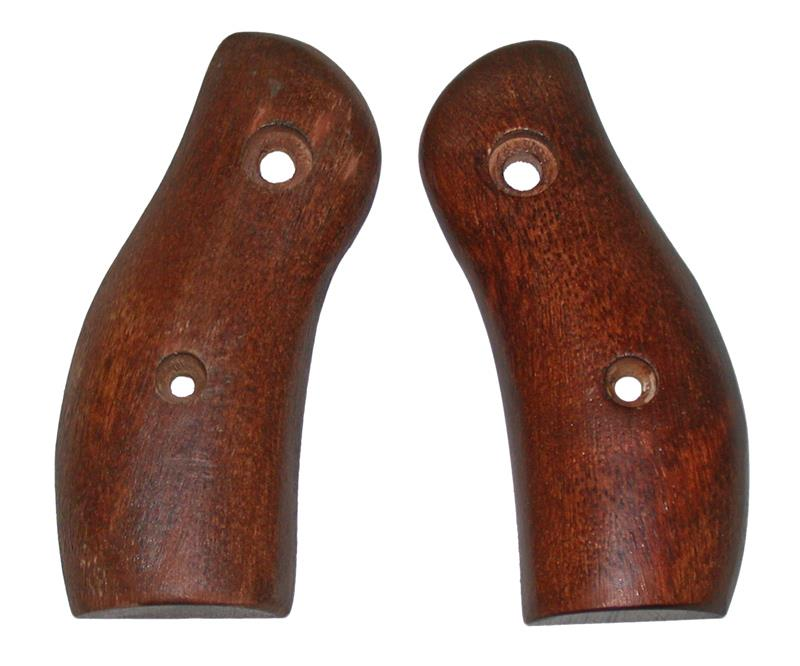 Grips, Round Butt, Magna Style, Walnut Stained Hardwood, New