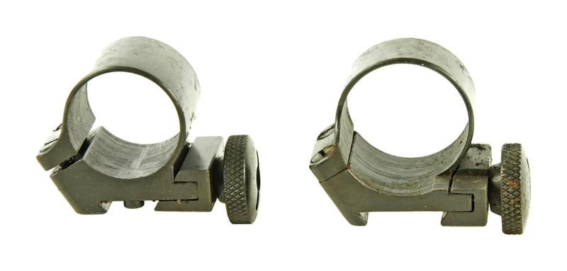 Scope Rings, 7/8'', Sako, Old Style - Front & Rear Rings In Polished Blued Steel