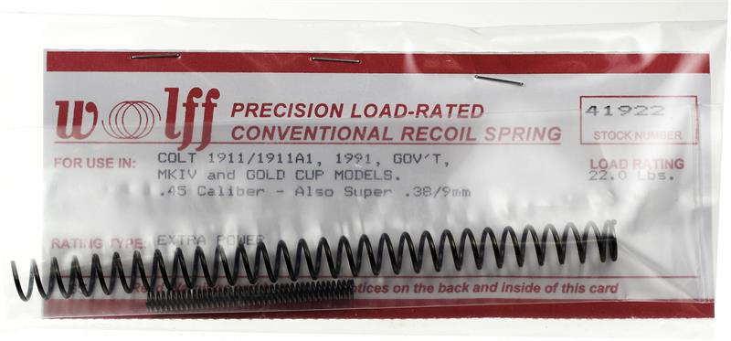Recoil Spring, Extra Power, 22 Pound, New (Heavier Firing Pin Spring Included)