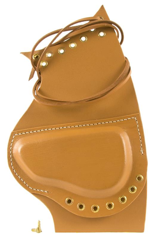Cheekpiece, Tan Leather, New Reproduction (w/ Tie Lace & Brass Mounting Screws)