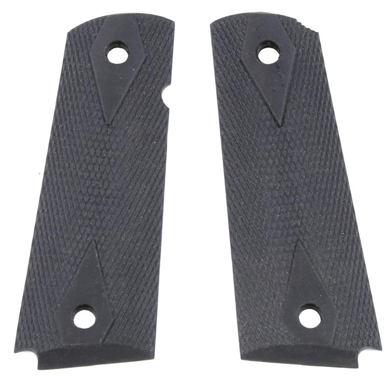 Grips - Reproduction Black, Hard Rubber