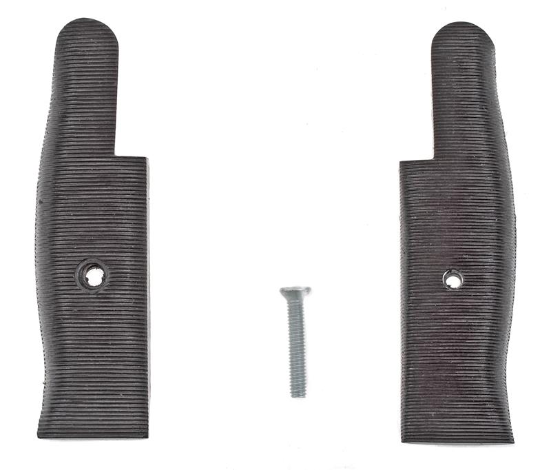 Bayonet Grips, Black Plastic, New Reproduction
