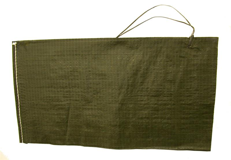 Sand Bag, Reusable, Green Vinyl, New Manufacture (14
