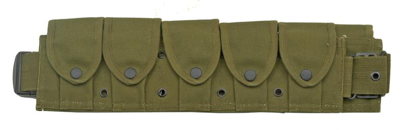 Belt Pouch, 10 Pocket, Olive Drab Canvas, New Reproduction