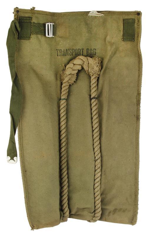 Bag, Tool Transport, Bailey Bridge, Khaki Canvas, Good Condition w/Storage Wear