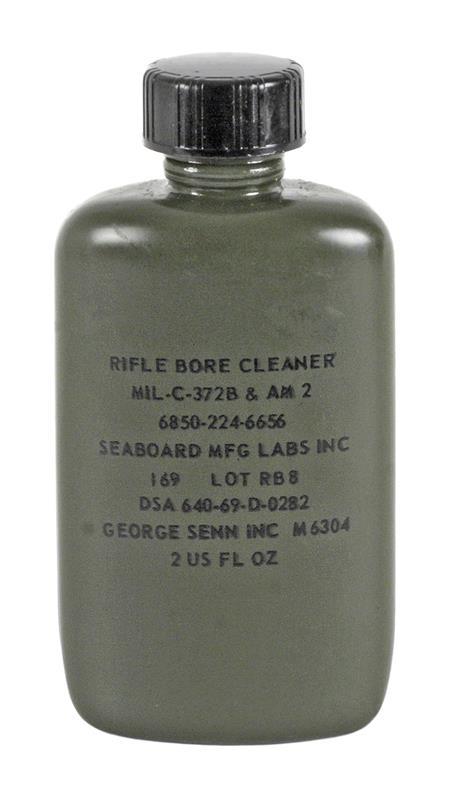 Bore Cleaner, 2 Oz. - Unused, Olive Drab Plastic Bottle With Screw On Cap