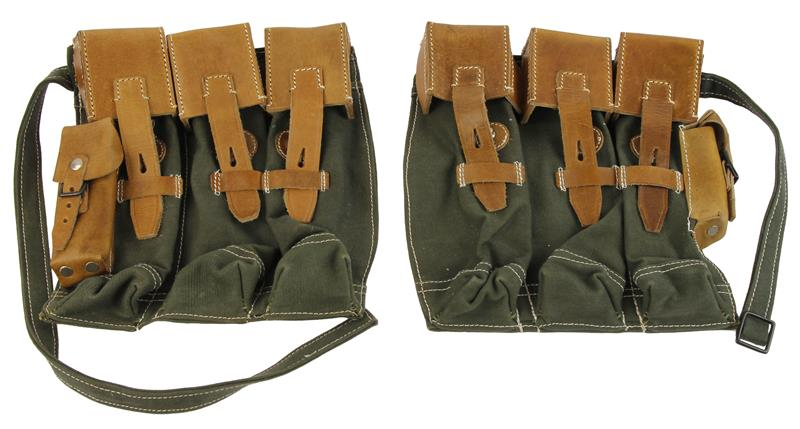 Magazine Pouch Set, German MP44, Reproduction - Left & Right Side