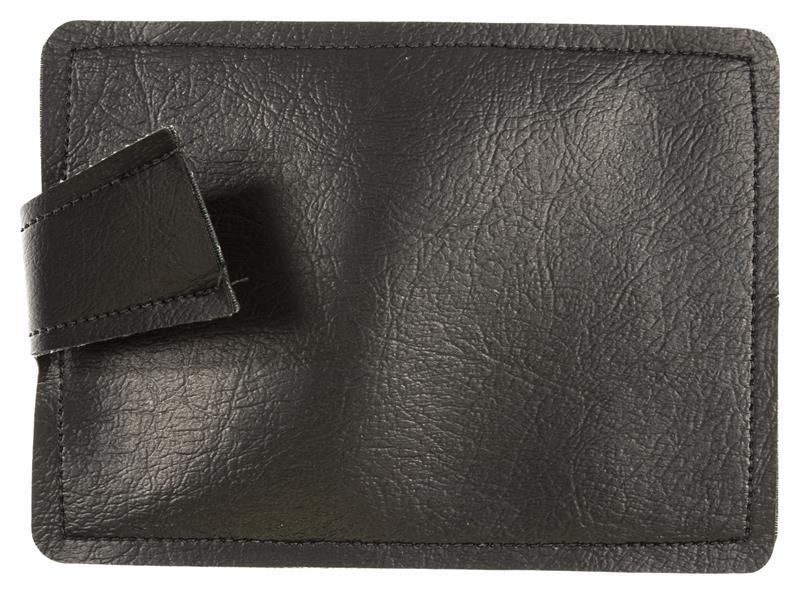 Sandbag For Shooting Rest, Black Leather, 5-1/2
