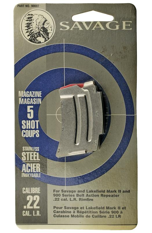 Magazine, .22 LR, 5 Round, Stainless, New (Factory)