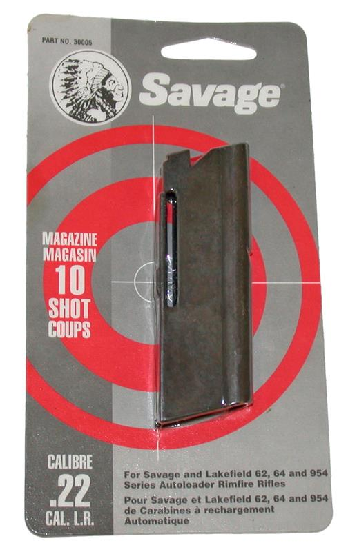 Magazine, .22 LR, 10 Round, New Factory, Black Anodized Aluminum. Mfg in Canada