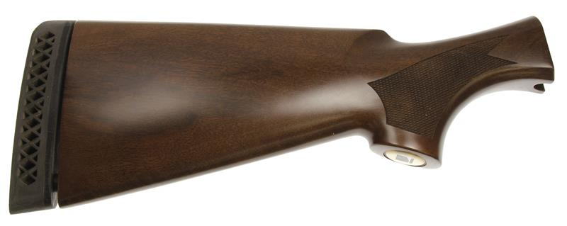 Stock, 12 Ga., RH Walnut, Satin w/ Black Eagle Emblem & Recoil Pad, New Factory