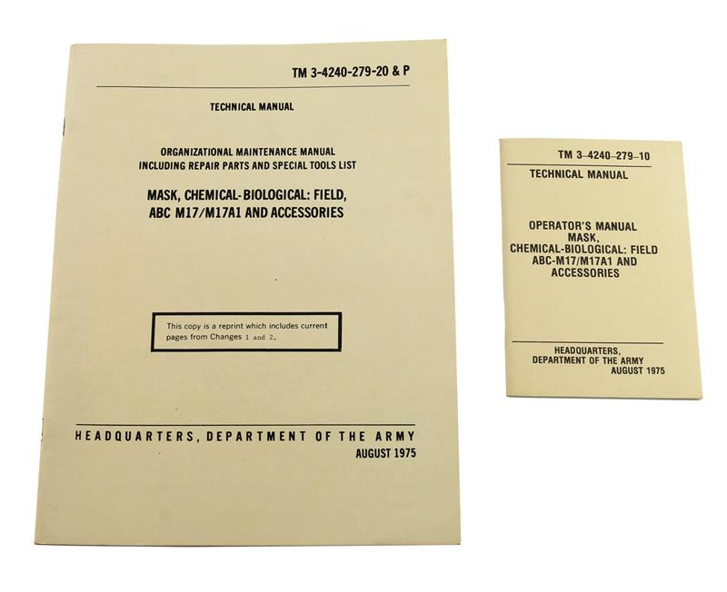 Chemical Biological & Field Mask Operators Manual & Maintenance Manual(Set of 2)