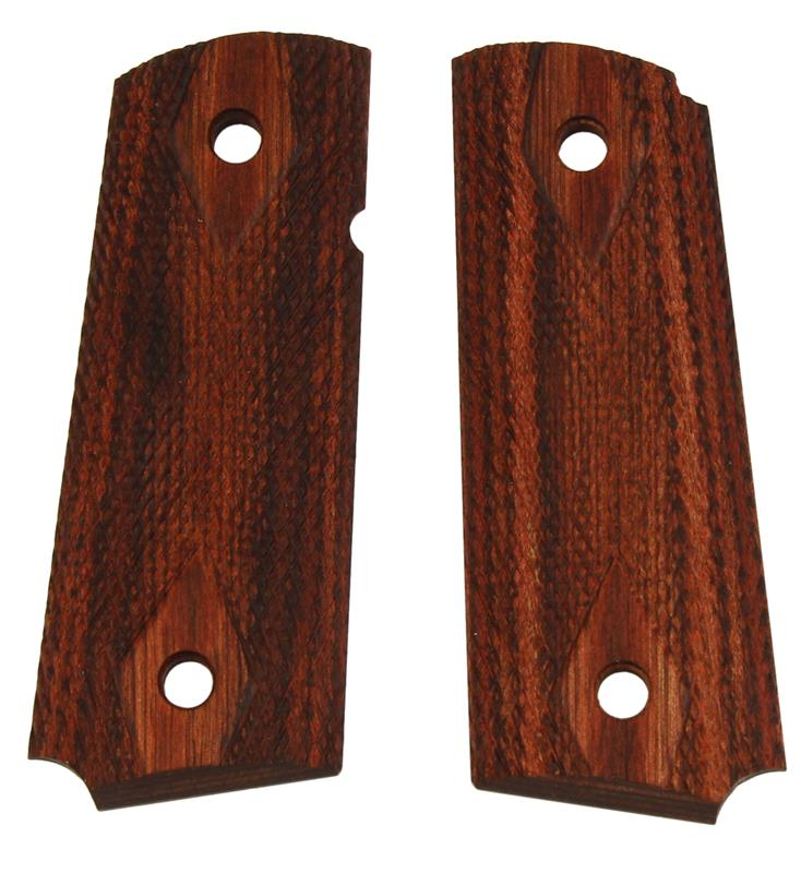 Grips, Checkered Diamond Rosewood w/ Ambidextrous Safety Cut, Used, Original