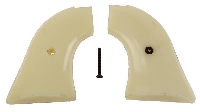 Grips, White Plastic, Used Factory Original