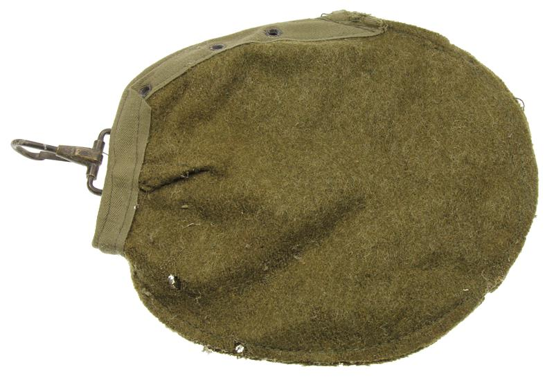 Canteen Cover, Reinforced Green Wool, New Surplus