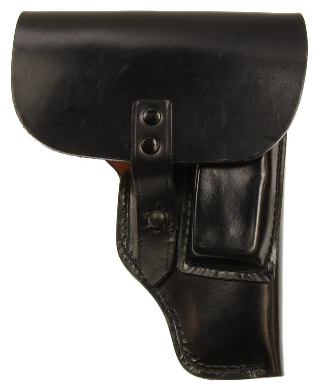 Flap Holster, Black Leather, New