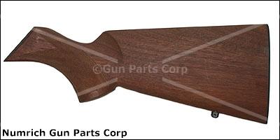 Stock Less Rifle Pad, Checkered Walnut