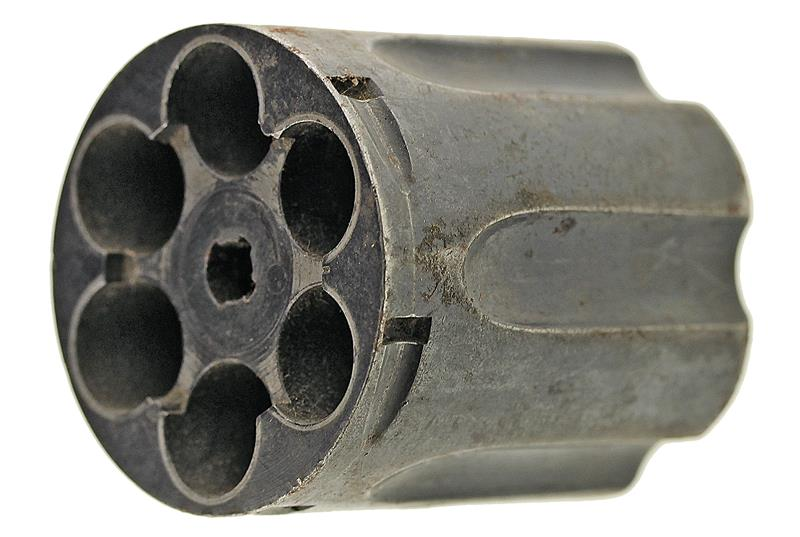 Cylinder, .38 Spec, Stripped, Old Style, Blued, Used Original (No Locating Pins)