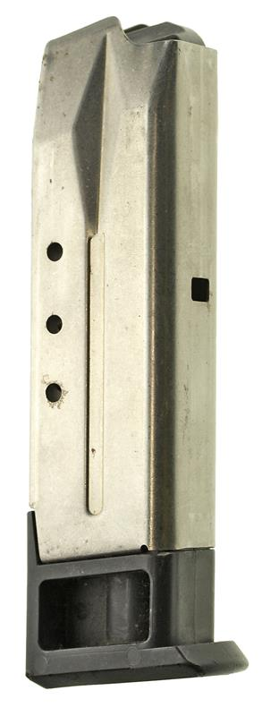 Magazine, 9mm, 10 Round, Stainless, New (Rectangle Cut for Mag Catch; Factory)